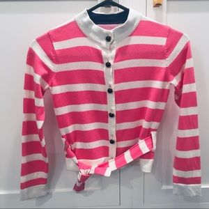 Lilly Pulitzer Striped Cardigam Sweater Size 8